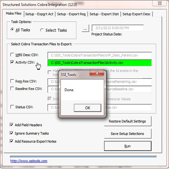Deltek Cobra™ Transaction File Generator
